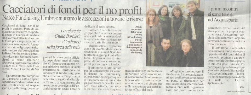 Messaggero_Fundraising_Giulia Barbieri